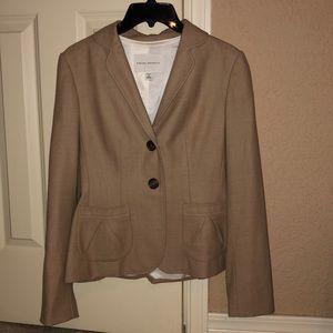 Banana Republic sz 4 light brown wool blazer.